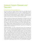 Immune System Diseases and Disorders