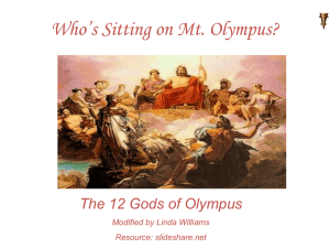 Who`s Sitting on Mt. Olympus?