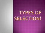 Types of Selection!