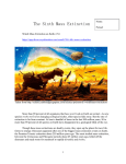 The sixth mass extinction worksheet