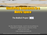 Clustering Sequences in a Metric Space