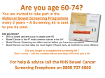 Bowel Cancer Screening Information