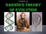 Chapter 15 Darwin`s Theory of Evolution