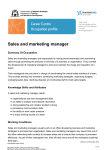 Sales and marketing manager
