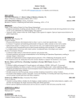 Bauer MBA and MS Resume Template