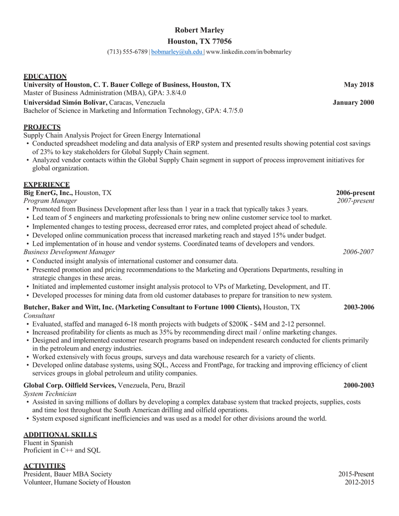 000207732 1 214a21d772b7d2d53b99a29d72c9e196 - Collection of uh bauer resume template