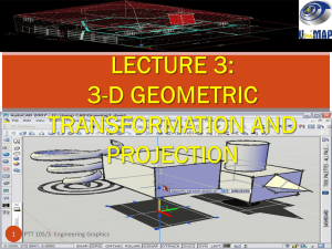 3-D Transformation and Projection