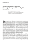 Knowledge Management from a Big Data Perspective