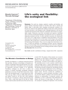 Life`s unity and flexibility: the ecological link