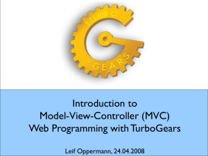 Introduction to Model-View-Controller (MVC) Web Programming with