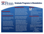 Biostats Flier 2017 - University of Pennsylvania