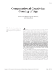 Coming of Age - Computational Creativity Group