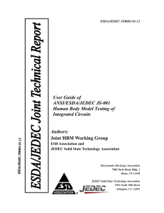 User Guide of ANSI/ESDA/JEDEC JS