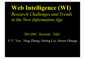 Web Intelligence (WI) - Web Intelligence Consortium