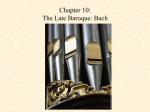 Chapter 6: Late Baroque Music – Bach and Handel