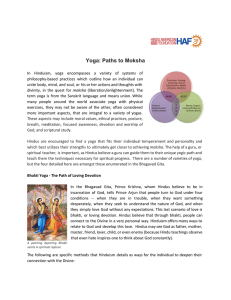 Yoga: Paths to Moksha