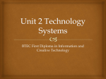 Unit 2 Technology Systems