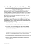Emergency Department Opioid Management Patient Information Sheet