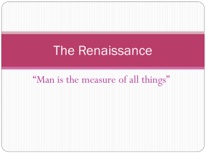 Intro to the Renaissance PPT