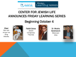 Friday learning series - The Jewish Federation of Omaha