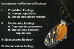 Introduction to Ecology and Evolutionary Biology