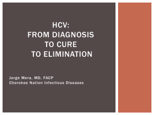 Clinical evaluation of Chronic HCV Infected Persons