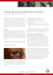Intraocular pressure (IOP) and tonometry