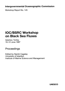 IOC/BSRC Workshop on Black Sea Fluxes, Istanbul, Turkey, 10