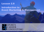 Lesson 2.8 - Intro to Event Mktg
