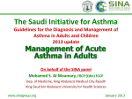 Acute Asthma in Adults - Saudi Initiative for Asthma