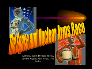 Events Leading to the Space and Nuclear Arms Race