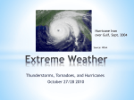 Lecture 10: Extreme Weather