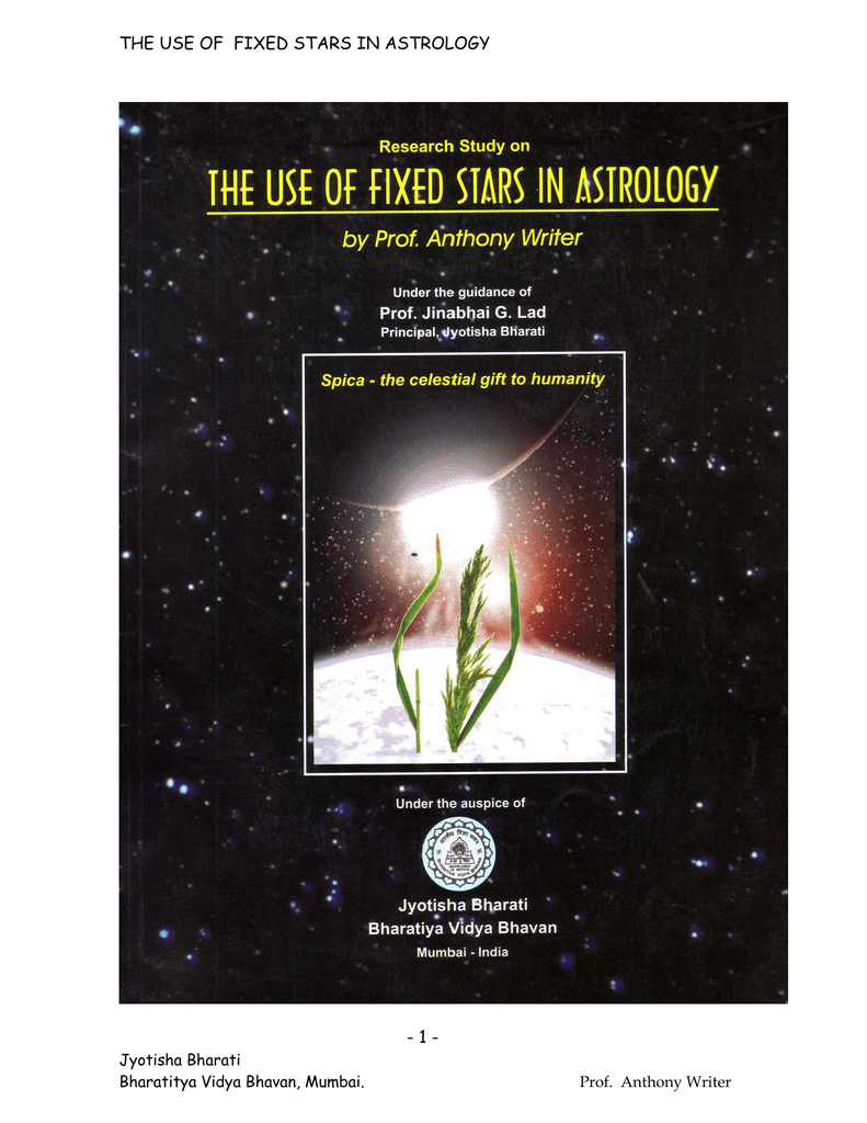 the use of fixed stars in astrology