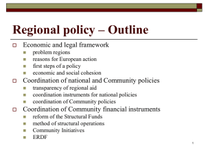Regional policy – Outline