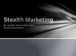Stealth Marketing - Pace University ePortfolio