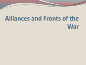 Alliances and Fronts of the War