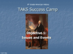 TAKS Success Camp: Objective 1