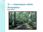 4.1 * Interactions within Ecosystems