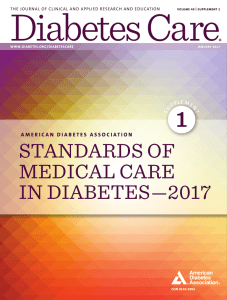 standards of medical care in diabetes—2017