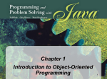 Programming and Problem Solving with Java: Chapter 1