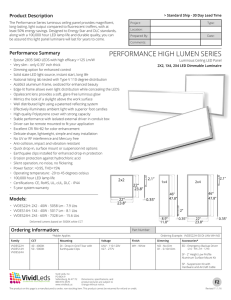 performance high lumen series