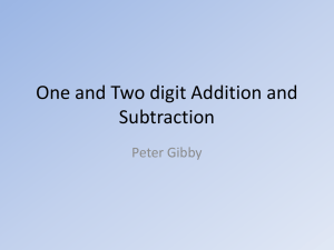 One and Two digit Addition and Subtraction - Perfect Math