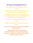 30 Ways to Study Spelling Words!