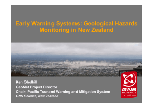 Early Warning Systems: Geological Hazards Monitoring in