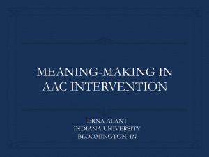 Meaning-Making in AAC Intervention.pttx