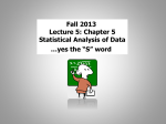 Lecture #5 Powerpoint (10/2/13)
