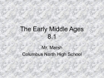 The Early Middle Ages 8.1