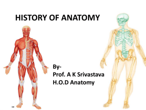 History Of Anatomy - King George`s Medical University