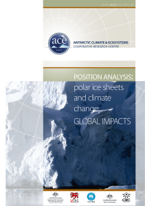 polar ice sheets and climate change: GLOBAL impActs