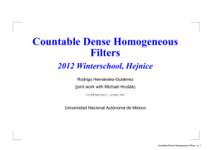 Countable Dense Homogeneous Filters